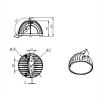 Светодиодный светильник FHB 02-150-850-D60 на кронштейне