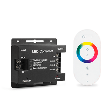 Контроллер для RGB с сенсорным пультом управления цветом (белый)